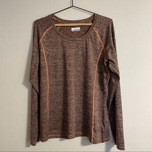 Columbia Sportswear Pink Long Sleeve Shirt (XL)